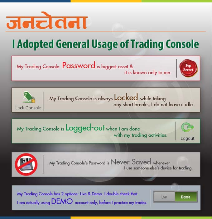 Know the General Usage of Trading Console